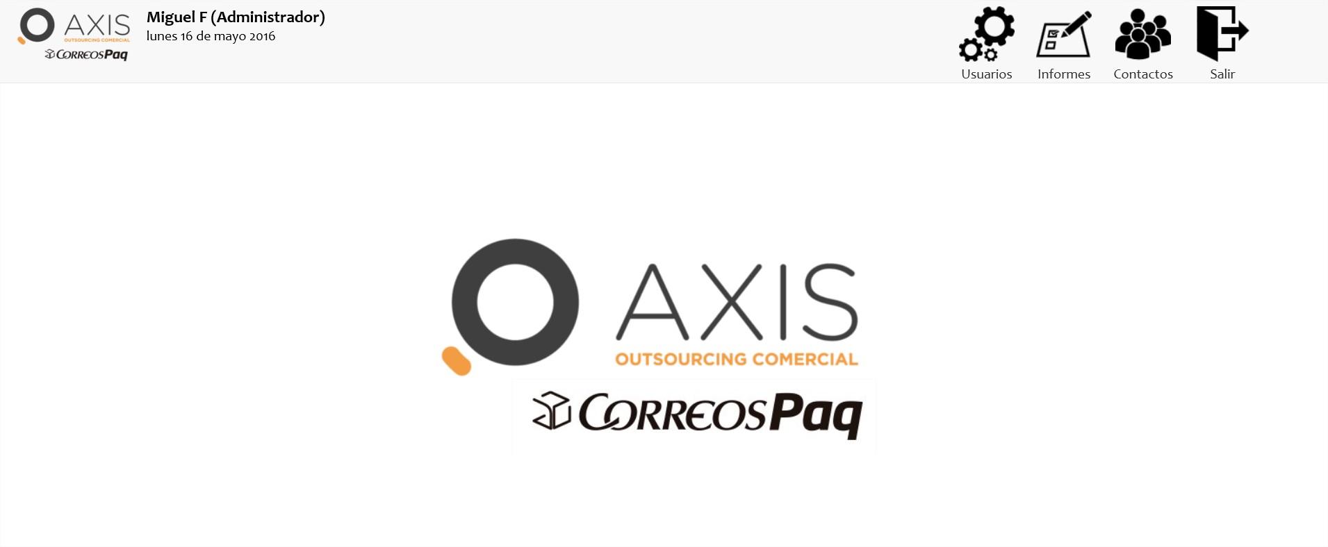 AXIS. Proyecto CORREOS. Gestión de contactos - Mozilla Firefox